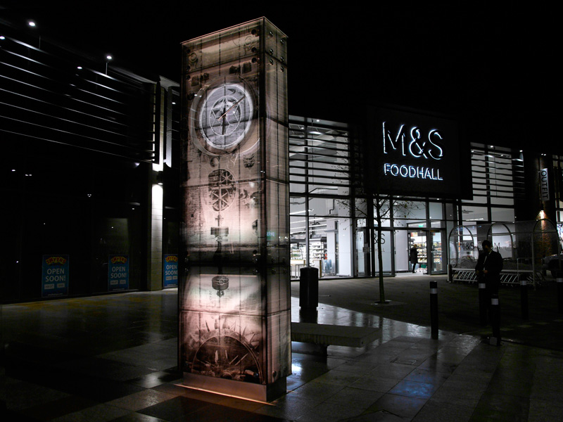 Kirkstall Clock Tower at night